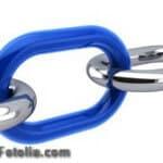 Kette - blaues Kettenglied