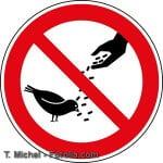Verbotsschild Vögel - Tauben füttern verboten Zeichen Schild