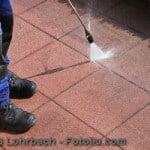 Dampfstrahler, Terrasse reinigen