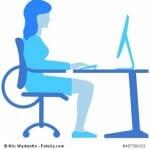 Sitzposition am Arbeitsplatz