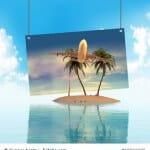 Urlaub Insel Illustration Urlaubsflieger 3D