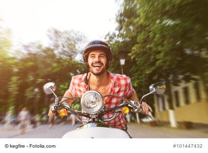 Dank Motorroller weniger Fahrstress dafür mehr Freizeit und Freude im Alltag